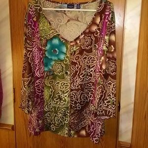 Print blouse by Westbound Woman    3X